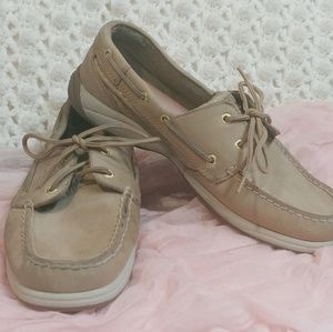 Sperry Tan Leather Top Siders